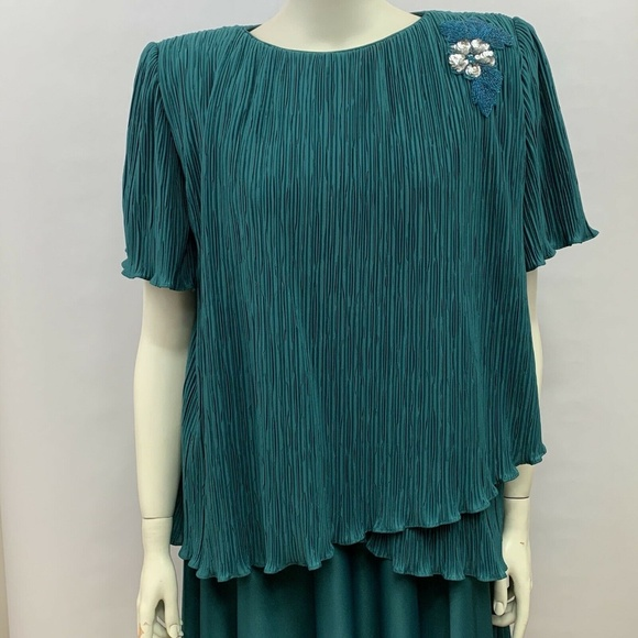 Vintage PATRA Dress Womens Plus Size 20 Teal SS